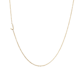 Mini Initial Necklace - With One Initial - We offer every initial in the alphabet!  - Solid Gold