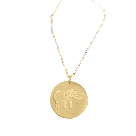 Lucky gold elephant necklace