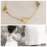 SOLID GOLD THREE HEART NECKLACE