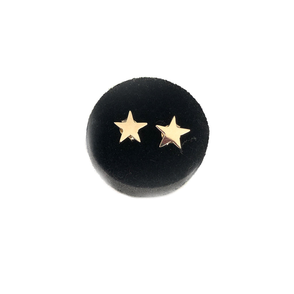 Star Earrings- Available In Solid Yellow Or White Gold