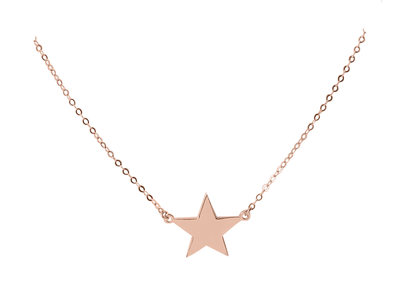 """You're a Star"" necklace - Solid Pink Gold"