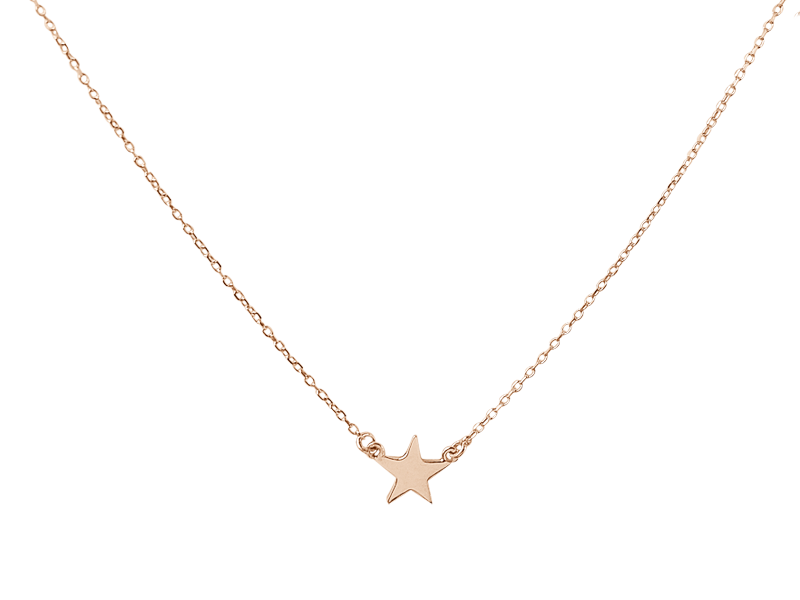 """You're a Star Baby"" necklace- Solid PInk Gold"
