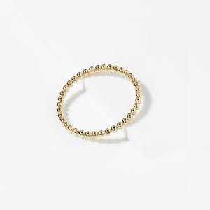 Bead It! Solid Yellow Gold Stackable