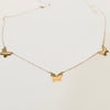 3 Butterfly Necklace - Solid Gold
