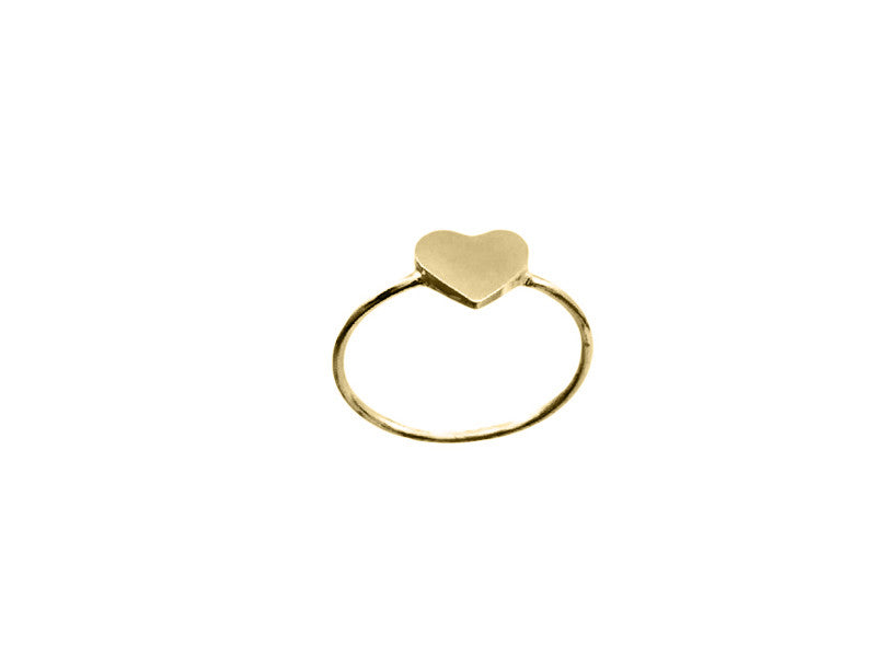 Closed Heart - Solid Yellow Gold