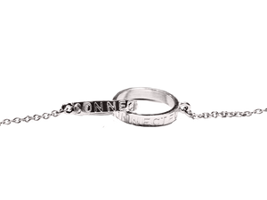 """Connected"" Bracelet - White Gold"