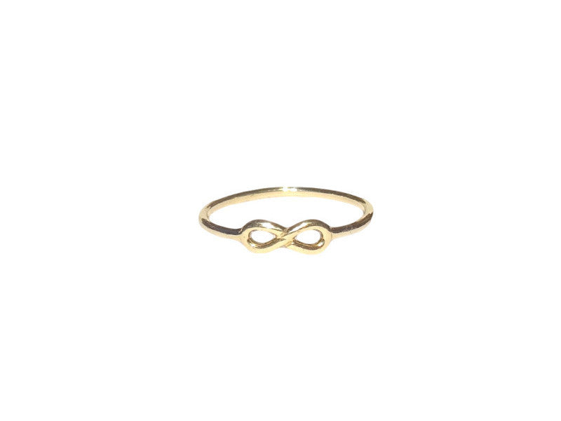 Infinity Ring - Solid Yellow Gold
