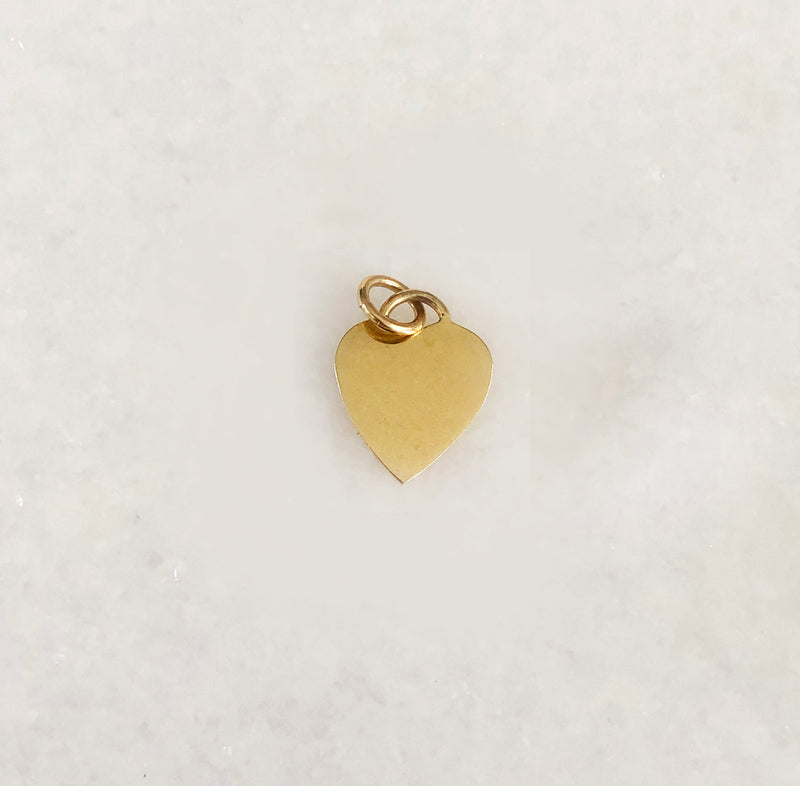Heart Charm In Solid Gold