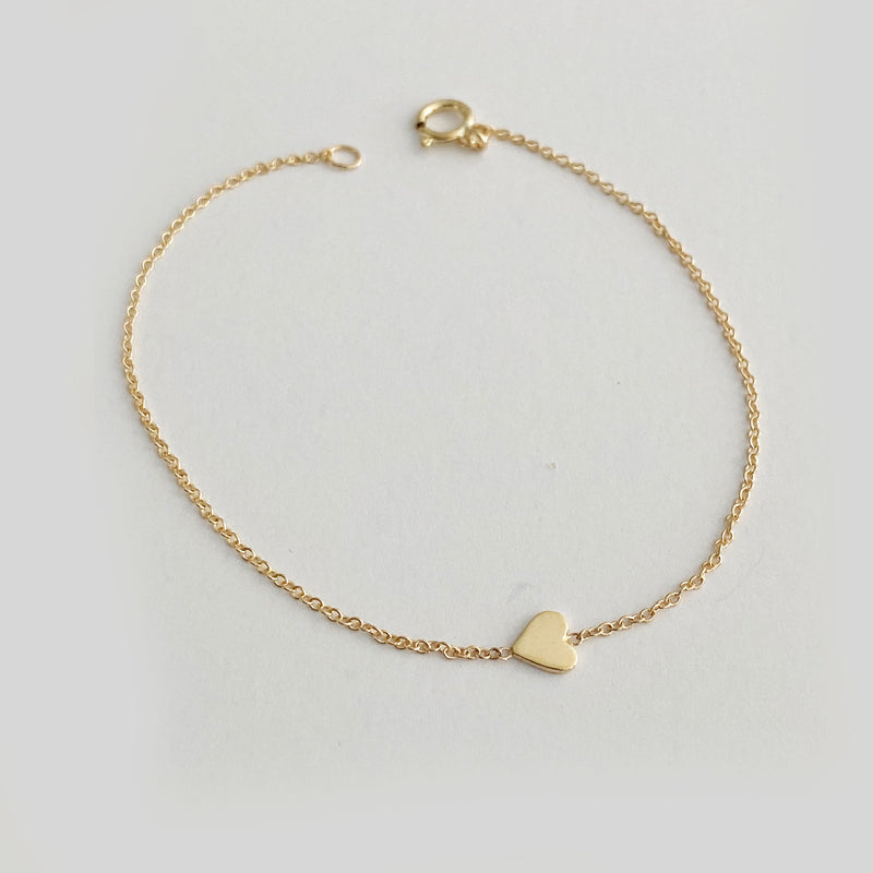Heart Bracelet - Solid Gold