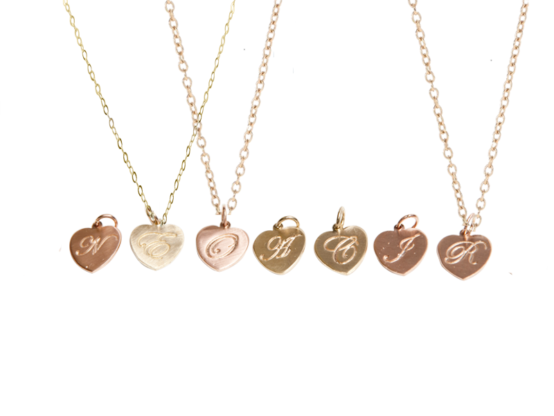 My Identity Solid Gold Heart Pendant Necklace