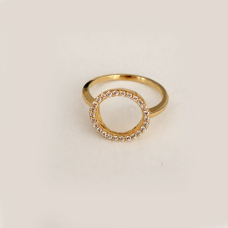 Circle Of Life Ring In 18K Yellow Gold Vermeil
