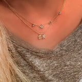 Mini diamonds on a line - wear one or wear a ton- of initials that is! We create whatever you desire. Email us with your initial choices!