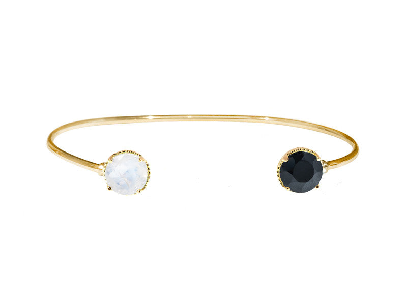 Magic Bracelet - Black Onyx & Moonstone