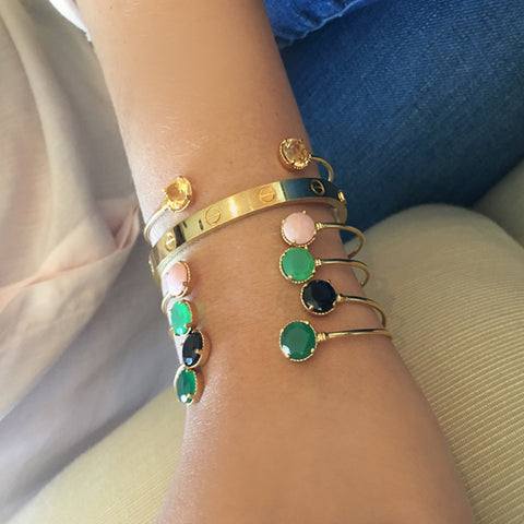 SHOP THE LOOK - MAGIC BRACELETS IN 18K YELLOW GOLD VERMEIL OR BRITISH STERLING & HANDPICKED GEMSTONES