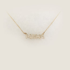 Mama Necklace In Diamonds