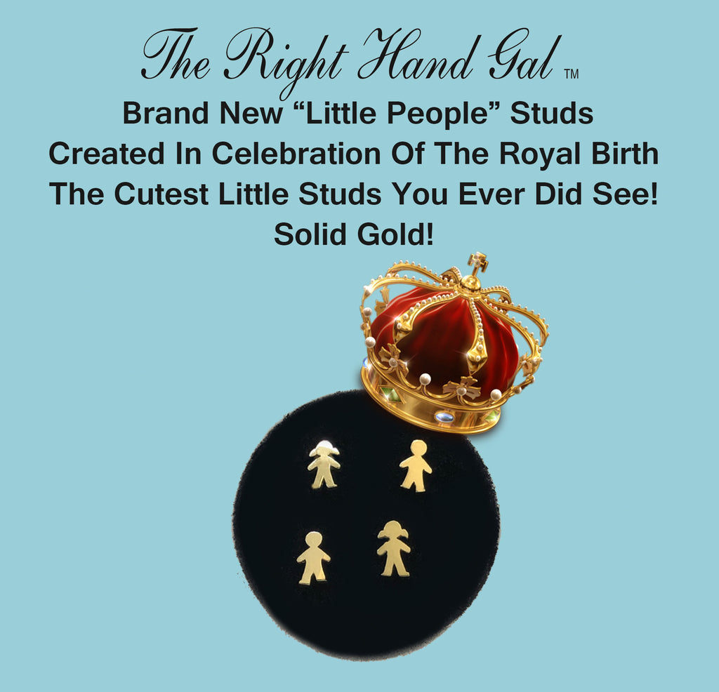 "Introducing our ""Little People"" Studs-Solid Gold -In honour of The Royal Birth.  Enter Promo Code At Checkout- PS. All the Prices on our website are in Canadian dollars !!!!!!!"