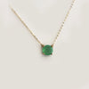 Large Lollipop Necklace with your choice of Gemstones- Solid Gold