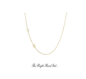 The Meghan Markle Mini Initial Necklace Your Choice Of Initials