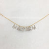 Large Diamond Initials on a Line Necklace - Solid Gold