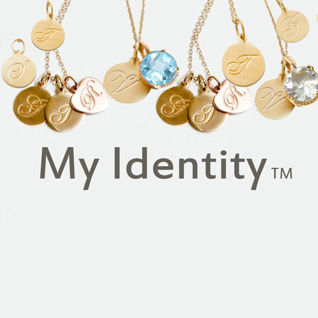 My Identity Initial Disc Necklace - Solid Gold