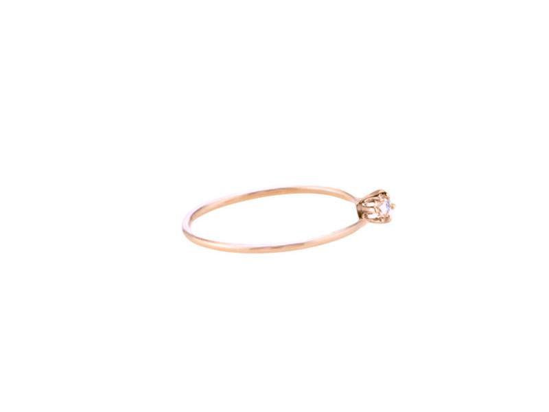 Engage Me - Solid Pink Gold Stackable