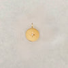 Solid Gold Starburst Disc Charm