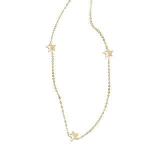 Wish Upon A Star Three Times In Solid Gold