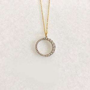 """The Sun"" Necklace""- Rhodium Plated With CZ Stones"