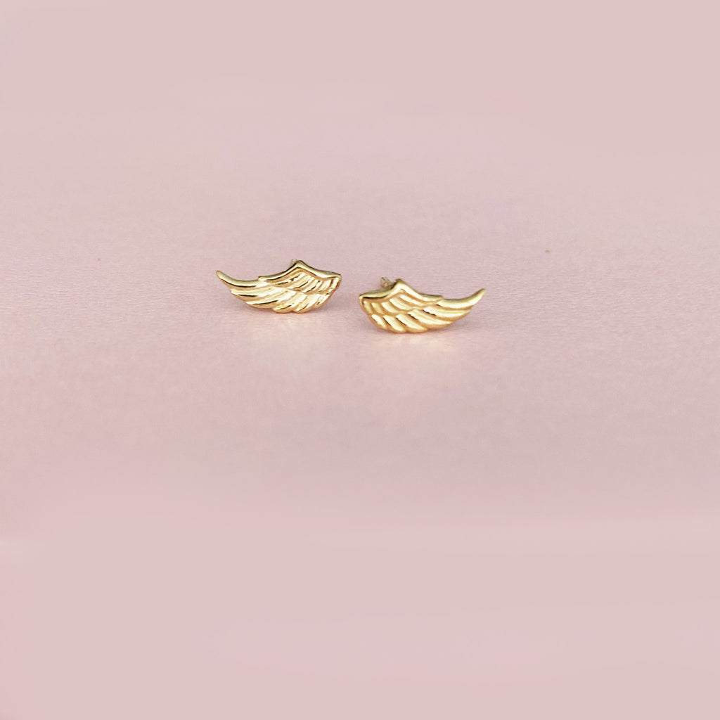 Freedom Wings Studs- Solid Gold-Sold as a Pair