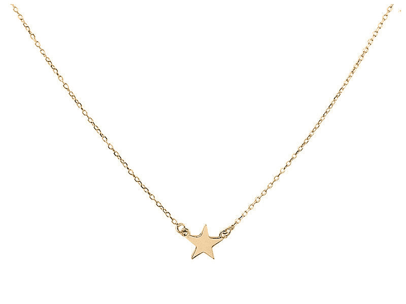 """You're a Star Baby"" necklace - Solid Yellow Gold"