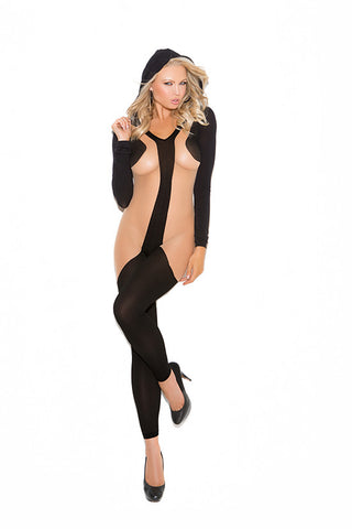 Hooded Bodystocking , Hosiery - Elegant Moments, Hush Hush Intimates  - 1