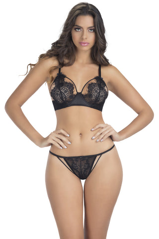 The Eyelash Bralette Set , Set - Oh La La Cheri, Hush Hush Intimates  - 1