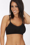 Coobie Seamless Lace Trim Bra One Size / Black, Bra - Coobie, Hush Hush Intimates  - 7