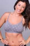 Coobie Seamless Lace Trim Bra One Size / Medium Grey Polka Dot, Bra - Coobie, Hush Hush Intimates  - 27