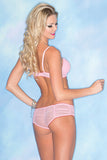 Pink Flirty Bra Set , Sets - Hush Hush Intimates, Hush Hush Intimates  - 2