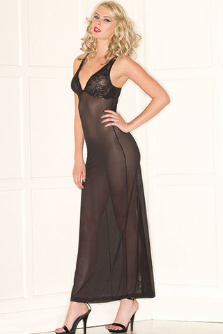 Diva Long Gown , Chemise - Hush Hush Intimates, Hush Hush Intimates  - 1