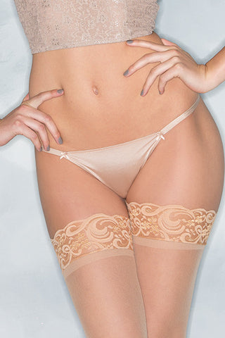 Ribbon Thong Panty , Panty - BeWicked, Hush Hush Intimates  - 1