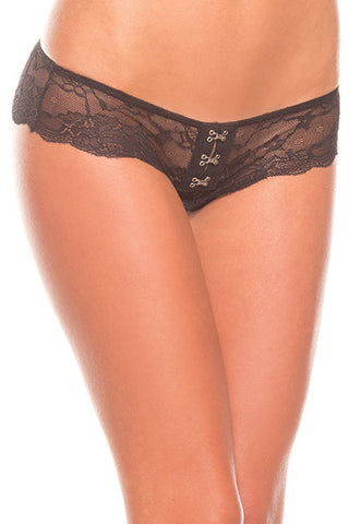 Crotchless Hook and Lace Panty