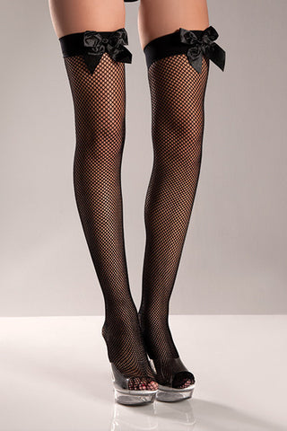 Fish Net Thigh High , Hosiery - BeWicked, Hush Hush Intimates