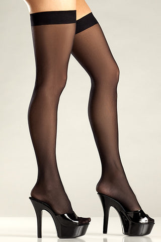 Sheer Stockings , Hosiery - BeWicked, Hush Hush Intimates  - 1