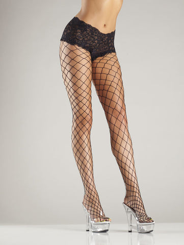 Fence Net Tights with Lace Boyshorts , Hosiery - Hush Hush Intimates, Hush Hush Intimates  - 1
