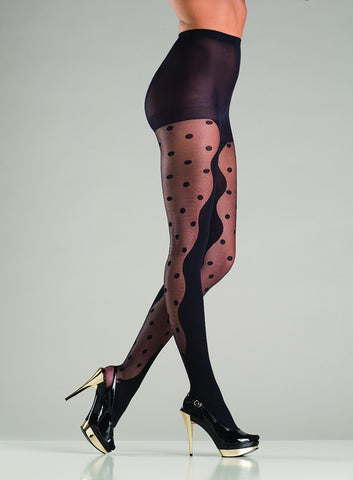 Abstract Polka Dot Pantyhose , Hosiery - Hush Hush Intimates, Hush Hush Intimates