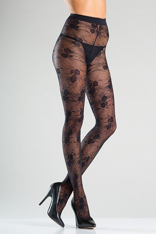 Wild Flower Tights , Hosiery - BeWicked, Hush Hush Intimates  - 1