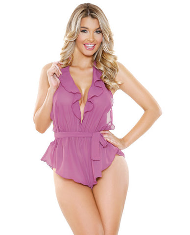 Sexy Halter Tie Romper S/M / Pink, Teddy - Fantasy Lingerie, Hush Hush Intimates  - 1