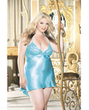 Charmeuse Chemise with Overlapping Lace , Chemise - Hush Hush Intimates, Hush Hush Intimates  - 3
