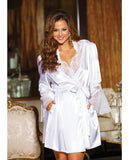 Charmeuse and Lace Robe , Robe - Hush Hush Intimates, Hush Hush Intimates  - 4