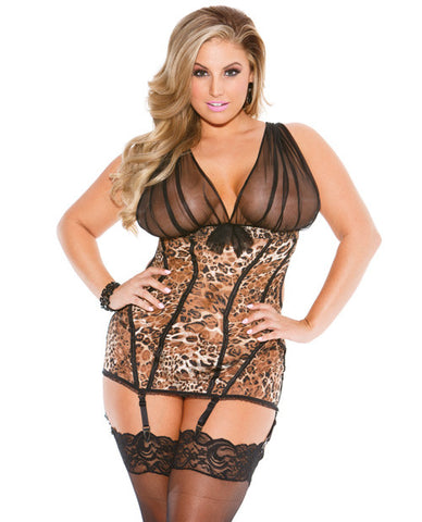 Leopard Lace Chemise , Chemise - Shirley of Hollywood, Hush Hush Intimates