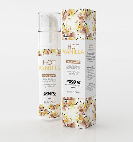 Hot Vanilla Warming Gourmet Massage Oil , Sensual Cosmetics - Exsens, Hush Hush Intimates  - 1