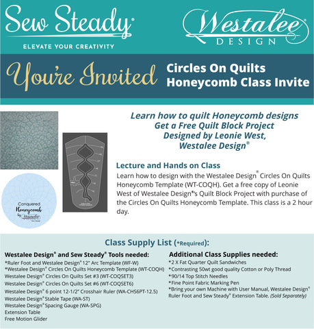Circles On Quilts Honeycomb Template: Class Achievement Program (CAP)
