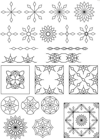 ... Westalee Design Spin-E-Fex Snowflake Template Set